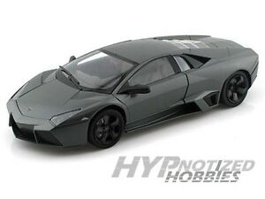 Motor Max 1 24 New Matte Black Die Cast Lamborghini Reventon 73364