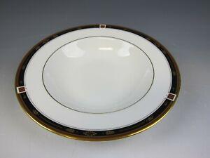 Lenox-China-REGENCY-BLACK-Rim-Soup-Bowl-s-Excellent