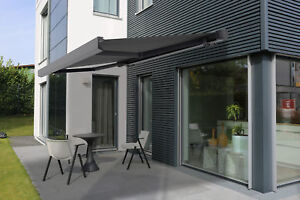 markise vollkassettenmarkise terrasse sp1310em elektrisch funkmotor 3 5 2m ebay. Black Bedroom Furniture Sets. Home Design Ideas