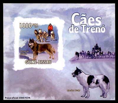 Guinea-bissau Nett Guinea-bissau Epreuve De Luxe Hunde Schlittenunde Husky Deluxe Sheet Dg24 Eine Hohe Bewunderung Gewinnen Tiere