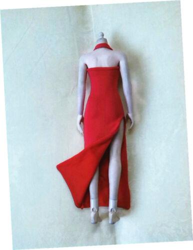 "Custom 1:6 Scale Figure Red Female Long Evening Dress For 12/"" PH HT Body Doll"