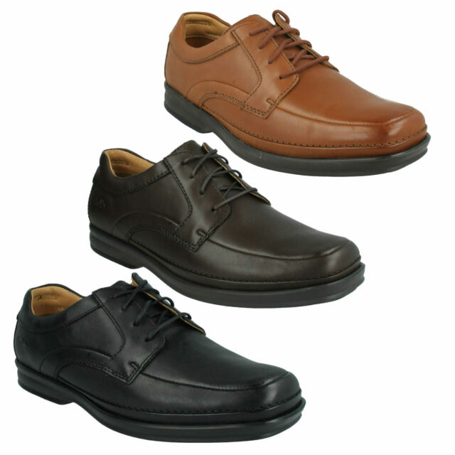 SCOPIC WAY CLARKS MENS LACE UP LEATHER CLASSIC CUSHIONED WIDE SMART FORMAL SHOES