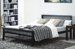 hot sale online 54ebd f7f47 Details about Meridian Black Metal Bed Frame Modern Style Extra Strong  Single Double King Size