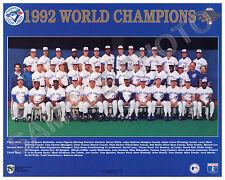 1992 TORONTO BLUE JAYS WORLD SERIES CHAMPIONS 8X10 TEAM PHOTO