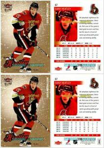2x-ULTRA-FLEER-2008-DANY-HEATLEY-NHL-OTTAWA-SENATORS-GOLD-MEDALLION-MINT-67-LOT