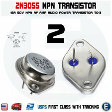 2pcs 2n3055 Npn Af Amp Audio Power Transistor 15a60v Bipolar To 3