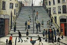 LS Lowry incorniciato stampa – passaggi a stoppino (picture pittura artista Opera d'Arte Inglese)