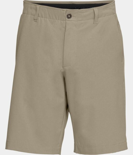Under Armour UA Flat-Front Showdown Vented Golf Shorts 1309551 Khaki 299 Size 36