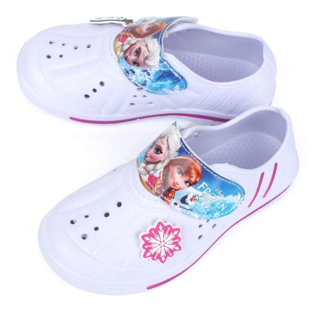Disney Frozen Girls Kids Casual Shoes EVA White Wide