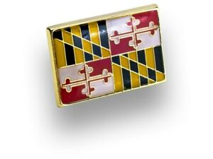 Maryland State Flag Emoji Lapel Hat Pin by King Pins New NWT