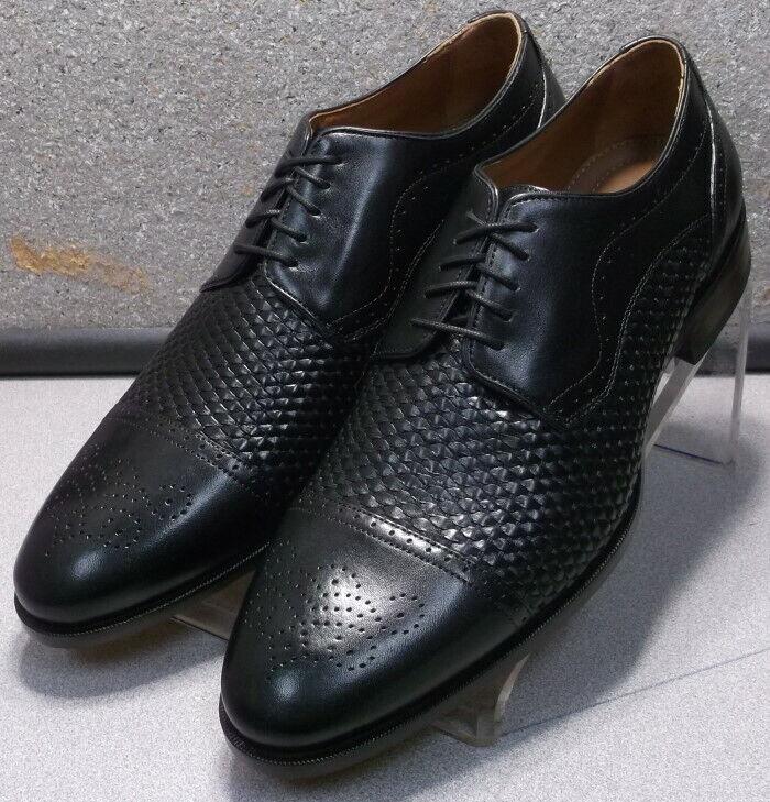 592565 ES50 Chaussures Hommes Taille 10 m Noir en Cuir à Lacets Johnston & Murphy