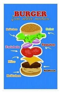 Burger Yourself Make Fast Food Tin Sign Shield 20 X 30 CM CC0565