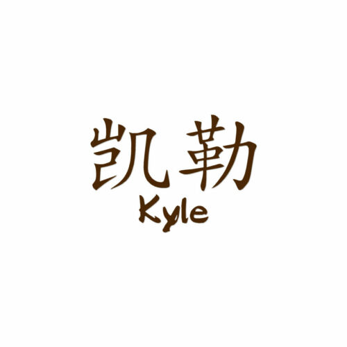 ebn2202 Decal Sticker Chinese Symbol Kyle Name Multiple Colors /& Sizes