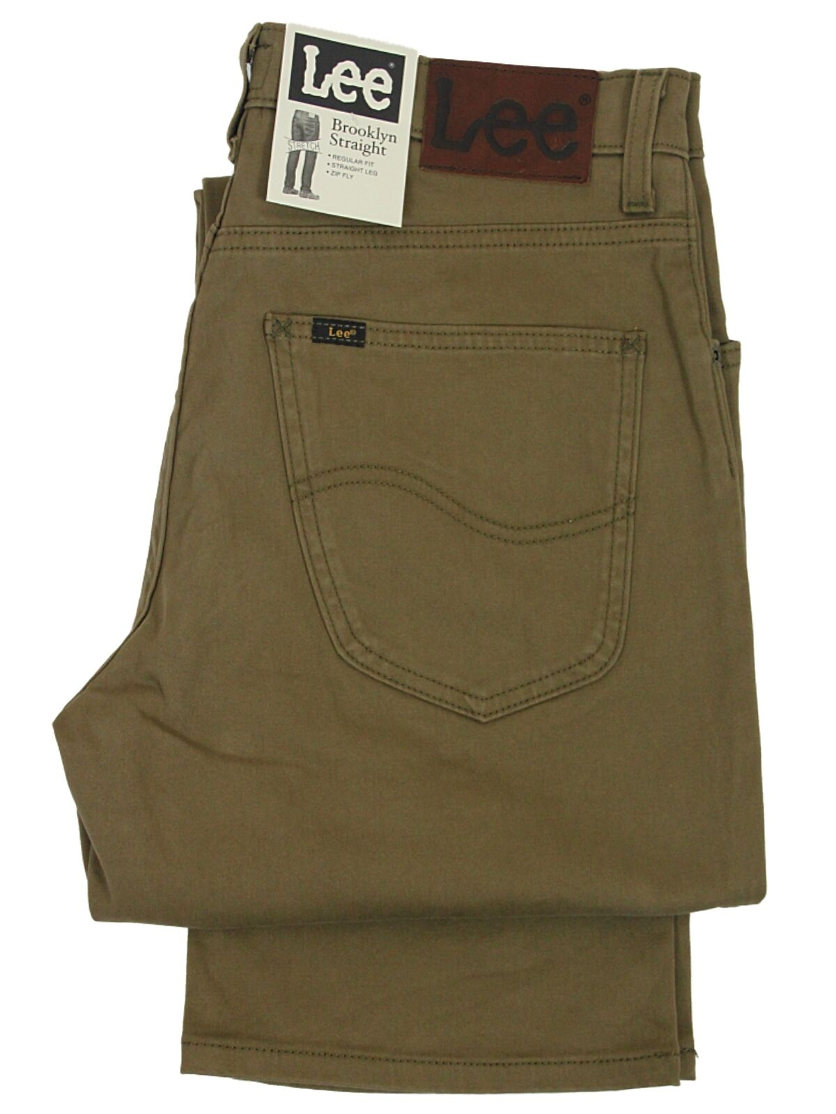 MENS BNWT BNWT BNWT  LEE BROOKLYN STRETCH MOLESKIN REGULAR FIT braun BRONZ JEANS 30 TO 42 d23858