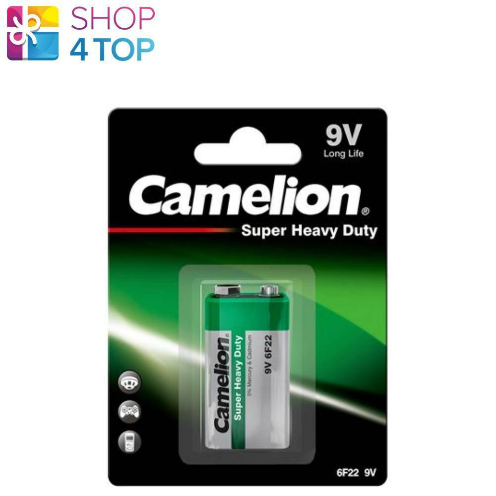 Camelion 9v batteries 6f22 long life super heavy duty 450mah Exp 2023 1bl new