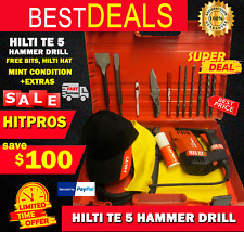 Hilti Te 5 Mint Condition Free Bits Hilti Hat Extras Fast Shipping