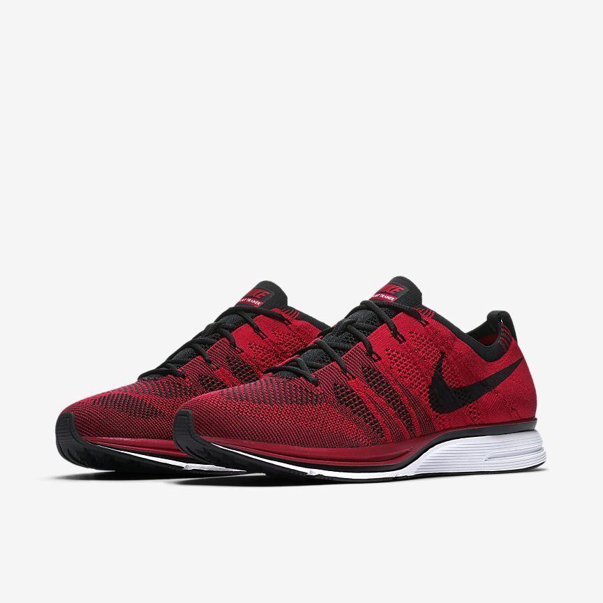 Nike Flyknit Trainer AH8396-601 University Red Black White Mens Running shoes
