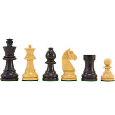 Down Head Knight Ebonised Staunton Chess Pieces 2.5 Inches RCP044