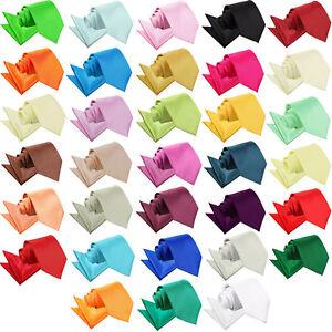 Men-039-s-Tie-Set-Plain-Solid-Colour-Wedding-Classic-Necktie-amp-Pocket-Square-Hanky