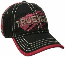 NEW TRUE RELIGION MEN'S CLASSIC PREMIUM BASEBALL TRUCKER HAT CAP BLACK TR1954