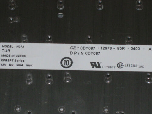 New Original Dell Inspiron 1500 1520 Silver Turkish Keyboard DY087
