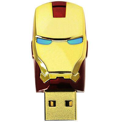 USB 2.0 Flash Memory 16 G GB IRON MAN Model Stick Pen Drive Disk NEW VDFBT