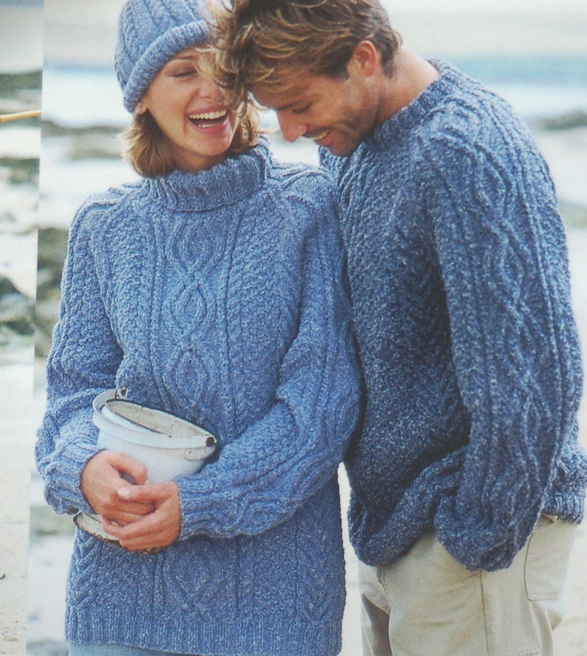 Hamilton Aran SU MISURA LANA HAND Knitted da Uomo & Ragazzi Maglione ponticelli la tua scelta