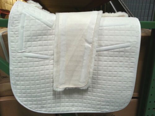 PRI PACIFIC RIM REMOVABLE SHEEPSKIN BACK  DRESSAGE SADDLE PAD X-LONG