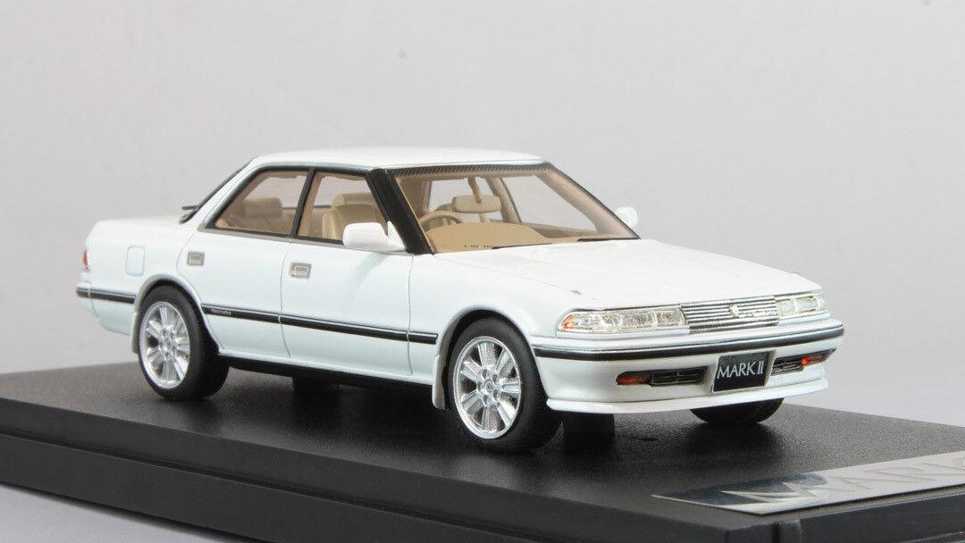 1 43 Mark43 Toyota Mark II Hard Top GT Twin Turbo Super White  PM4356W