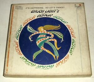 Vintage 1967 Enoch Light's Action,4-Track,Reel Tape,Project 3,The Total Sound