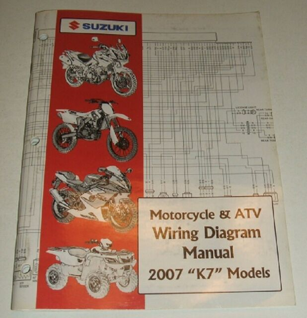 2007 Suzuki Wiring Diagram Manual Gsxr Gsx Dr Vs Gsf Vl 125 250 600 750 1300