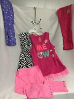 Girls Lot Spring Clothes Size 6 Five Pieces Youth Zebra Meow Design One 6x