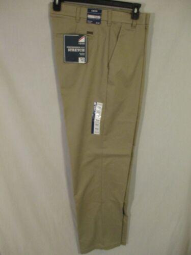 IZOD BIG TALL Cotton Blnd Khaki  Flat  Front Performance Dress Pants SR$80 NEW