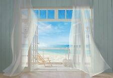Wall Mural photo Wallpaper Holiday - blue ocean view BEACH House Wall art