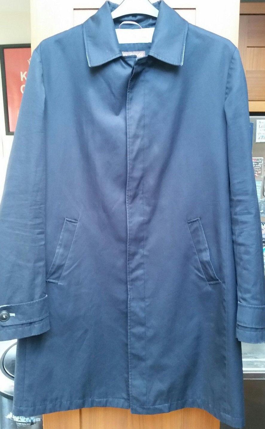 Herren EL GANSO Navy Blau  Coat in Größe UK Medium