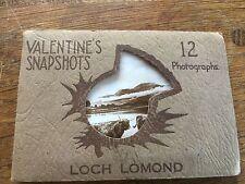 7 Vintage Photos Valentines Snapshots Loch Lomond Scotland In Booklet