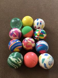 Vintage-Rubber-Bouncy-Ball-Lot-Vending-Machine-Toys-12-1-Abstracts
