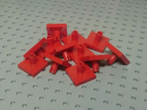 2460 Red x12 Lego Tile 2x2 with Peg on top
