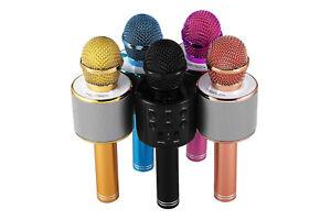 Microfono wireless karaoke bluetooth speaker usb tf smartphone tablet pc ws-858
