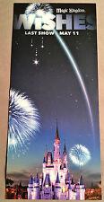 "Walt Disney World Wishes Farewell Card Final Show May 11th 2017 9"" X 4"""