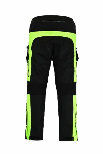 Moto Pantalon Textile Cordura moteur Cuissard Noir//Rouge//Vert Taille Xs 5xl