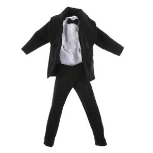 Formal Suit Black Bowtie Wedding Groom Clothes Tuxedo For doll Doll Best J TP