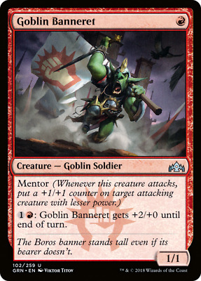 4x Goblin Banneret Guilds of Ravnica MTG Magic The Gathering NM Playset