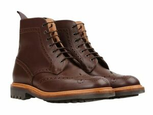 NIB-Sanders-Cheltenham-Full-Brogue-Derby-Boots-Made-in-England-RRP-560