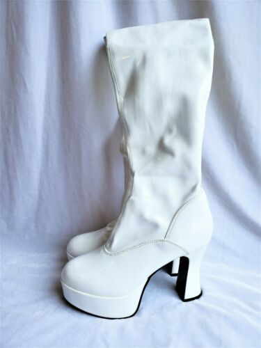 Hot Topic GoGo Boots Platform Heels Womens 5N Whit