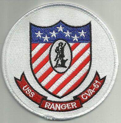 USS Ranger CVA-61 Multipurpose AIRCRAFT CARRIER MILITARY PATCH Ver A