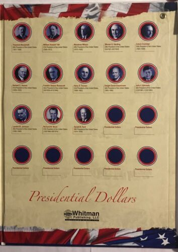 PRESIDENTIAL DOLLARS 2007-2015 DATE SET  ***GREAT GIFT*** U.S WALL HANGER