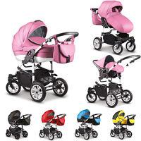 Sale Baby Pram Stroller Car Seat - Pushchair 3in1 Buggy Swivel Wheels Poussette