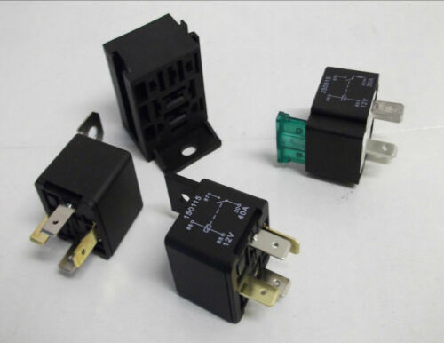 4 PIN 12v 30a RELAY NORMALLY OPEN WITH WITHOUT BKT OR FUSED CAR AUTOMOTIVE