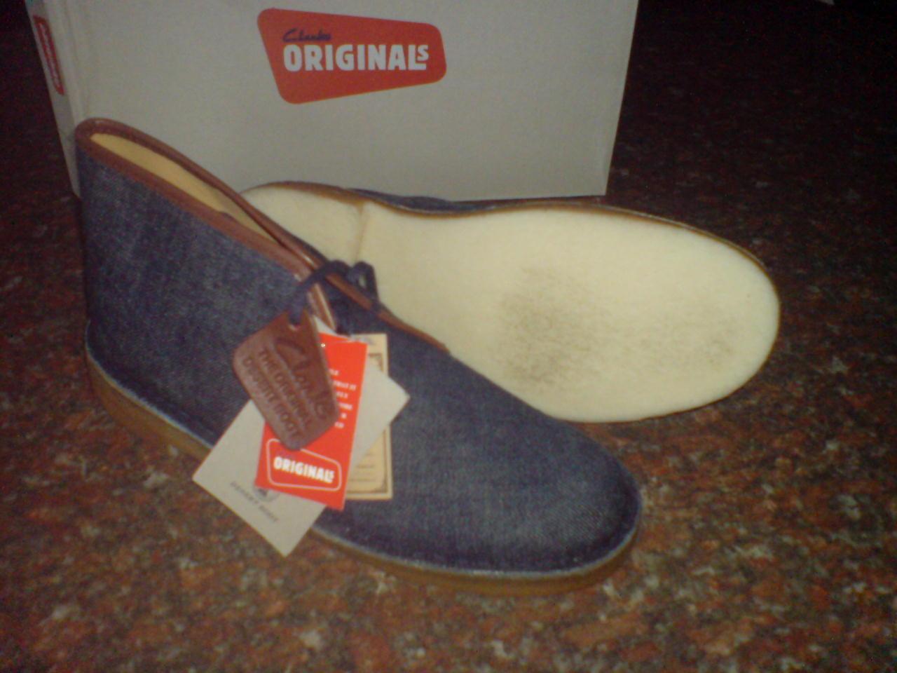 New Clarks OriginalS   Herren  DESERT Stiefel  INDIGO DENIM  UK 6,7,8,9,10,11 F